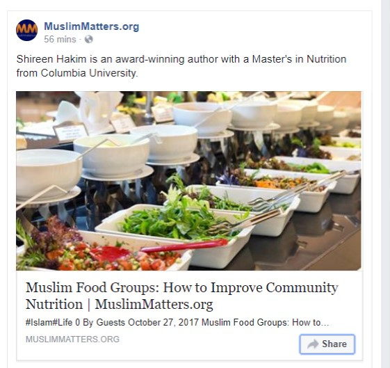 Muslim community nutrition article