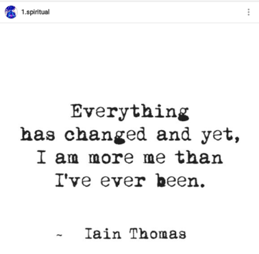 I Can Already Feel Myself Changing